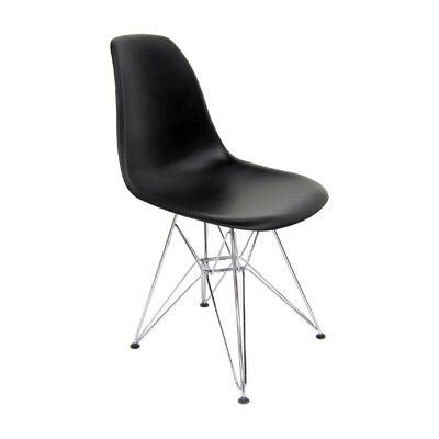 Brook Modern Side Chair Finish: Black