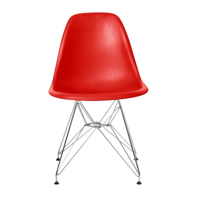 Brook Modern Side Chair Finish: Red