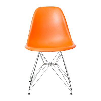 Brook Modern Side Chair Finish: Orange