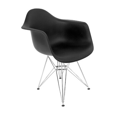 Brook Arm Chairs Color: Black Matte