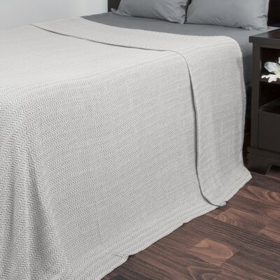 Barmeen Chevron Egyptian Quality Cotton Blanket Size: King, Color: Charcoal