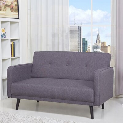 Zelmo Loveseat Upholstery: Dark Gray
