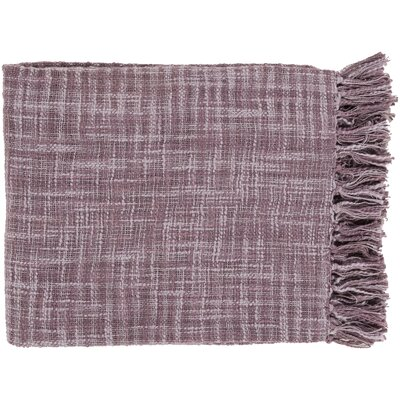 Carclunty Cotton Throw Blanket Color: Lavender / Mauve