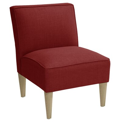 Carniny Linen Slipper Chair Color: Linen Antique Red