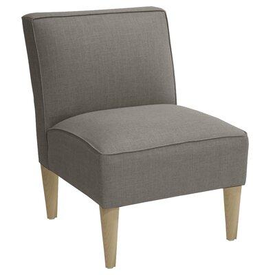 Carniny Linen Slipper Chair Color: Grey