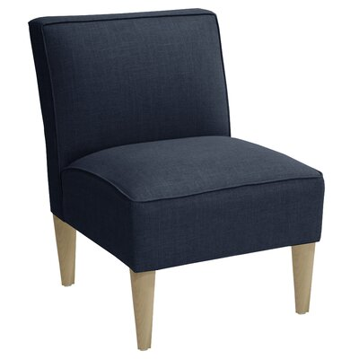 Carniny Linen Slipper Chair Color: Navy
