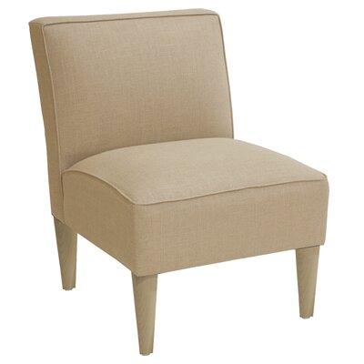 Carniny Linen Slipper Chair Color: Sandstone