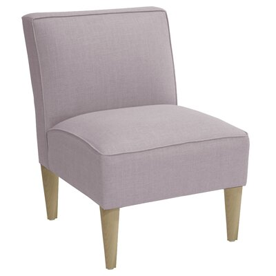 Slipper Chair Upholstery: Linen Smokey Quartz, Finish: Natural