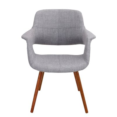 Frederick Arm Chair Upholstery: Light Grey