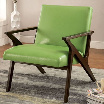Shankill Faux Leather Armchair Upholstery: Apple Green