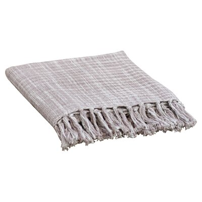Carclunty Cotton Throw Blanket Color: Gray / Sky Blue