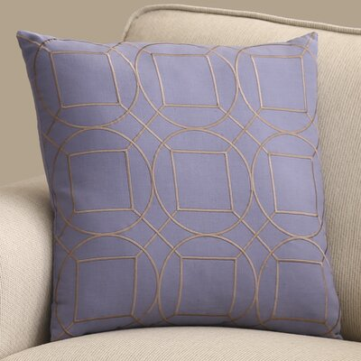 Lambda Square Linen Throw Pillow Size: 18 H x 18 W x 4 D, Color: Sky Blue