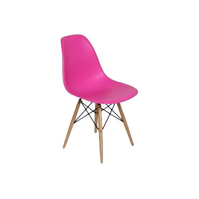 Marabella Side Chair Upholstery: Dark Pink