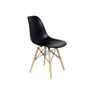 Coleford Solid Wood Dining Chair Upholstery: Black