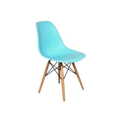 Coleford Solid Wood Dining Chair Upholstery: Ocean Blue