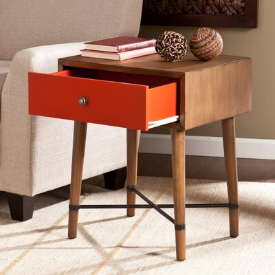 Rashee End Table Finish: Red