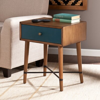 Rashee End Table Finish: Blue