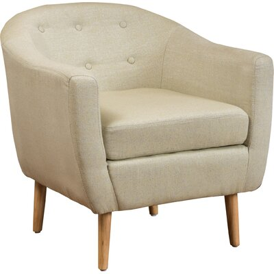 Conklin Barrel Chair Color: Beige Light Blue