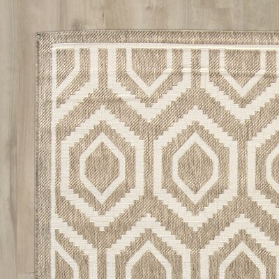 Miami Brown/Tan Indoor/Outdoor Area Rug Rug Size: Runner 2'3