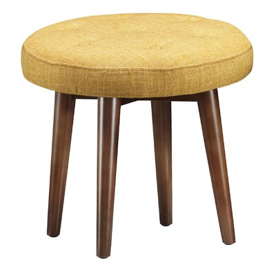 Toynsbee Linen Stool Color: Yellow