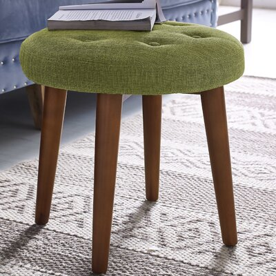 Toynsbee Linen Stool Color: Green