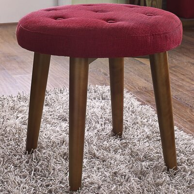 Toynsbee Linen Stool Color: Red