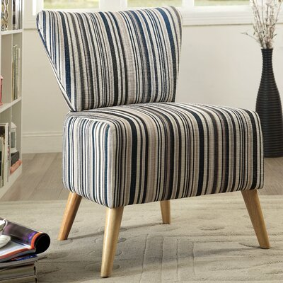 Honolulu Stripe Print Slipper Chair