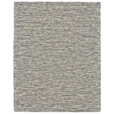 Estio Hand Tufted Gray Area Rug Rug Size: 8 x 11