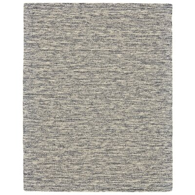 Estio Hand Tufted Gray Area Rug Rug Size: 96 x 136