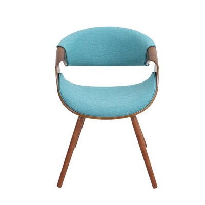 Corsica Curvo Barrel Chair Upholstery: Teal