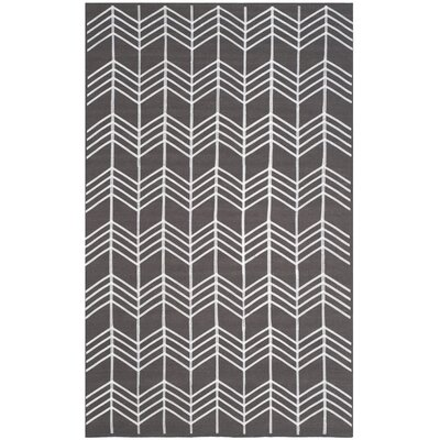 Corning Hand Woven Charcoal Area Rug Rug Size: Rectangle 4 x 6