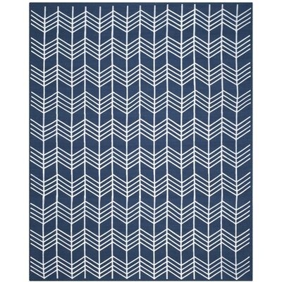 Tyrel Navy Area Rug Rug Size: Rectangle 8 x 10