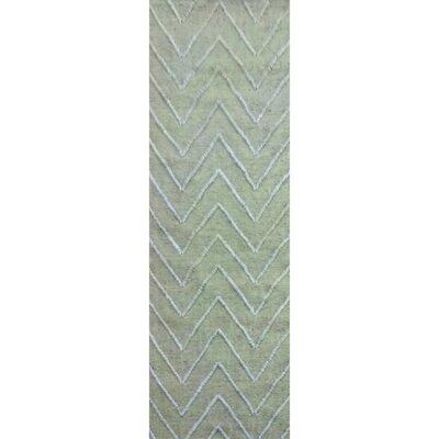 Saragossa Hand-Woven Green Area Rug Rug Size: Runner 2'6