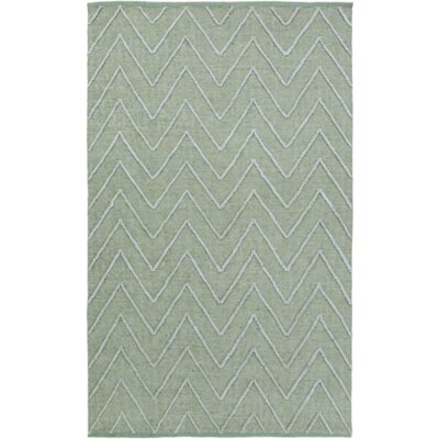 Saragossa Hand-Woven Green Area Rug Rug Size: Rectangle 4 x 6