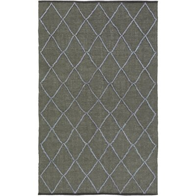 Devan Hand-Woven Olive/Slate Area Rug Rug Size: Rectangle 5 x 8