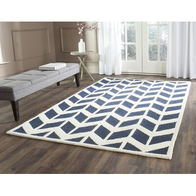 Esperance Navy / Ivory Area Rug Rug Size: Rectangle 6 x 9