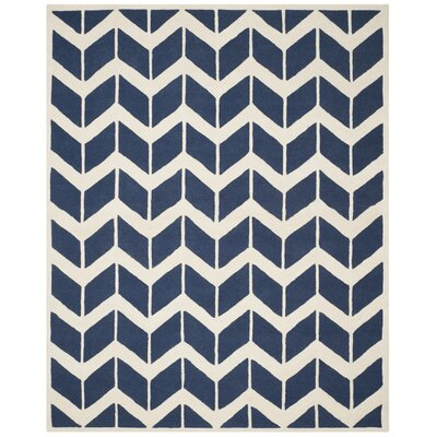 Esperance Navy / Ivory Area Rug Rug Size: Rectangle 8 x 10