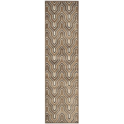 Ery Camel/Cream Area Rug Rug Size: Runner 22 x 8