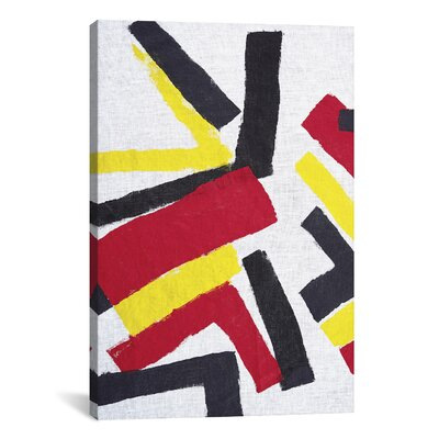 Langley Street Maze Painting Print on Wrapped Canvas
