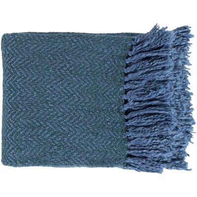 Massey Throw Blanket Color: Blue