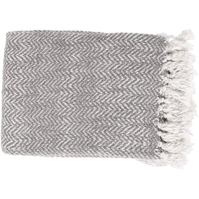 Massey Throw Blanket Color: Gray