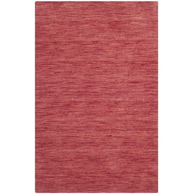 Cielo Hand Woven Red Area Rug Rug Size: Rectangle 18 x 210