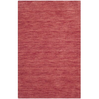 Cielo Hand Woven Red Area Rug Rug Size: 26 x 310