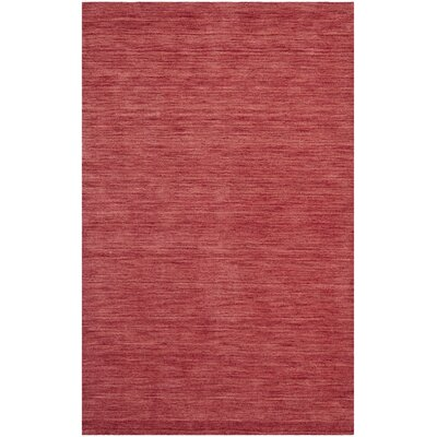 Cielo Hand Woven Red Area Rug Rug Size: 9 x 12