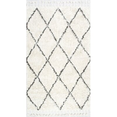 Twinar Hand Knotted  Black Area Rug Rug Size: 5' x 8'