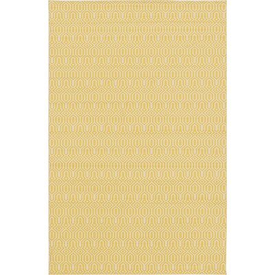 Seattle Yellow/Cream Area Rug Rug Size: 106 x 165