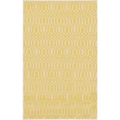 Seattle Yellow Area Rug Rug Size: 3'3