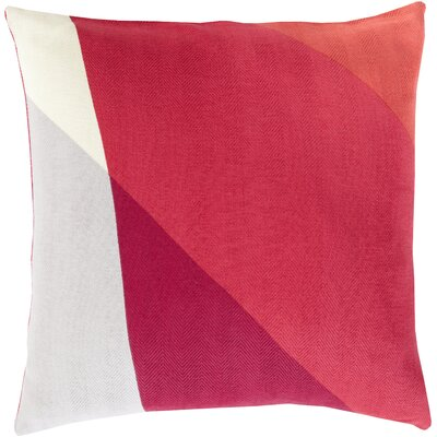 Goldwin Cotton Throw Pillow Color: Hot Pink, Size: 20 H x 20 W x 4 D, Filler: Down