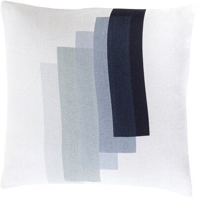 Escoba Cotton Throw Pillow Color: Navy, Size: 20 H x 20 W x 4 D, Filler: Down