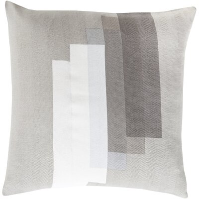 Escoba Cotton Throw Pillow Size: 22 H x 22 W x 4 D, Color: Light Gray, Filler: Polyester
